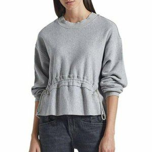 Current/Elliott Bloom Gathered Front Sweatshirt